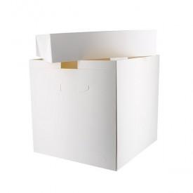 "White Tall Cake Box 14""x14""x12"" (pack of 5)"