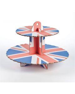 2 Tier Union Jack Cupcake Stand