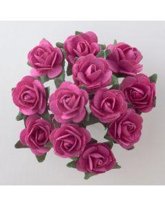 Fuchsia paper tea rose – 144 Pack