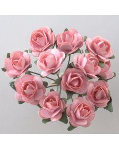 Pink paper tea rose – 144 Pack