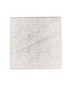 """9"""" Single Thick Square Cake Cards Silver Fern (5pack)"""