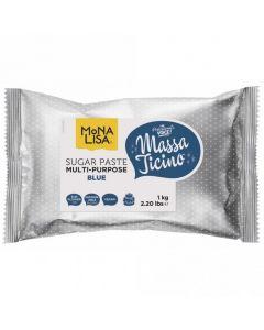 Massa Ticino By Mona Lisa - Blue Sugarpaste 1Kg