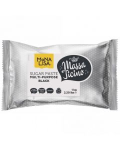 Massa Ticino By Mona Lisa - Black Sugarpaste 1Kg