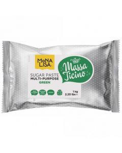 Massa Ticino By Mona Lisa - Green Sugarpaste 1kg