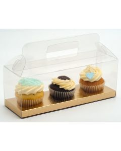 Transparent Box with Handle 270x90x100mm (single) - Does not include insert