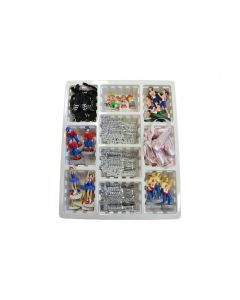 Assorted Resin & Plastic Cake Decorations & Mottoes in a Display Box