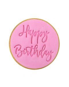 Sweet Stamp Trendy Happy Birthday Cookie/Cupcake Embosser