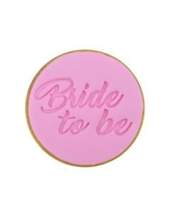 Sweet Stamp Classic 'Bride To Be' Cookie/Cupcake Embosser