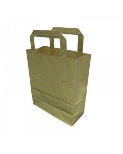 "BPB101- Small Kraft Block Bottom Paper Bags 6.85"" X 8.85"" X 3.5"" (Single)"