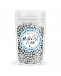 Make A Wish - Silver 6mm Pearl Sprinkle Mix (80g)
