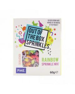 PME Rainbow - Out The Box Sprinkle Mix - 60g