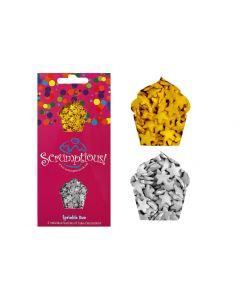 Scrumptious : Sprinkle Duo Envelope - Metallic Gold & Silver Stars