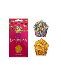 Scrumptious : Sprinkle Duo Envelope - Mini Rainbow & Gold Stars