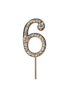 Diamante No 6 - Gold Colour Wire