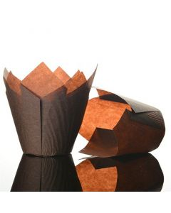 Dark Brown Tulip Cupcake Case - Pack of 50