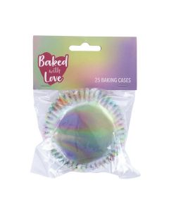 BWL Foil Lined Iridescent Baking Cases -  Pack of 25