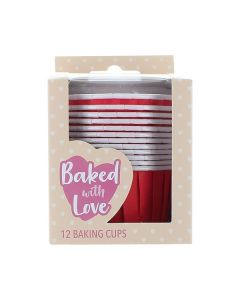 Red Baking Cups  - Pack of 12