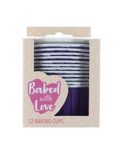 Purple Baking Cups - Pack of 12