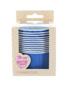 Blue Baking Cups  - Pack of 12