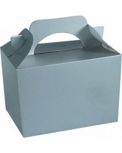 Silver Cake And Sweet Box With Handle (Pack of 5)