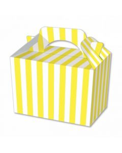 Yellow Striped Cake And Sweet Box With Handle (Pack of 5)