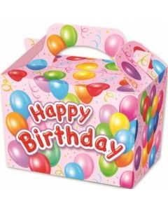 Pink 'Happy Birthday' Cake And Sweet Box With Handle (Pack of 5)