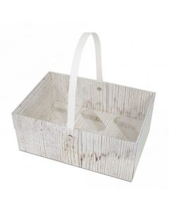 6 Cupcake - Wood Design Box With Handle (Single)