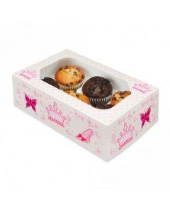 6 Cupcake Box`Princess Design` (Pack of 2)