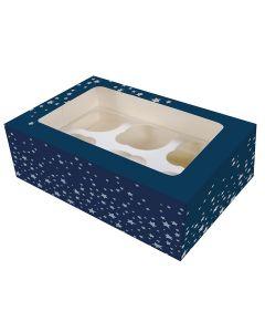 6 Cupcake Box - Starry Night - (Pack of 2 )