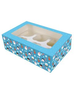 6 Cupcake Box - Christmas Friends - (Pack of 2)