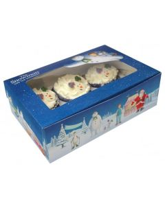 6 Cupcake Box - The snowman & The Snowdog (Pack of 2)