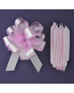 Purple Cupcakes Quick Pull Bow - Pink