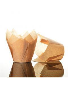 Caramel Tulip Cupcake Case - Pack of 50