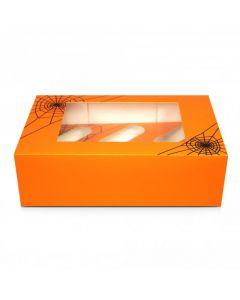 6 Cupcake Box `Halloween Cobweb`(pack of 5)