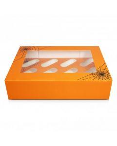 12 Cupcake Box `Halloween Cobweb`(pack of 5)