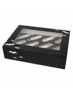 12 Cupcake Box `Bat Design` (pack of 5)