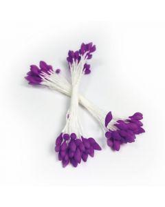Sugar Lane Purple Teardrop Stamens (Pack of 50)