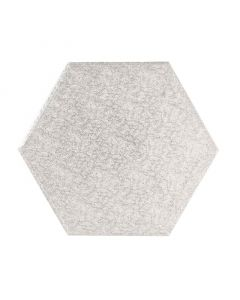 "12"" Silver Hexagonal Drum"