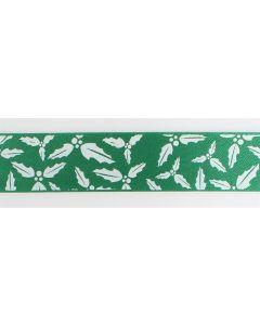Holly Green Ribbon Retail Pack 2m
