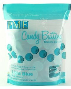 PME Light Blue Candy Buttons: Vanilla Flavoured (12oz)