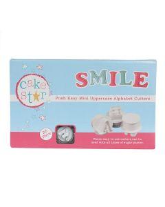 NEW: MINI Cake Star Push Easy Cutters - Uppercase - Alphabet