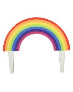 Gumpaste Rainbow Pic Cake Topper