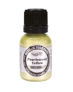 Rainbow Dust Metallic Edible Paint: Pearl Yellow (25ml)
