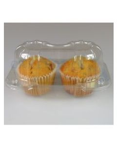 2 Cupcake Clear Plastic Pods (pack of 10)