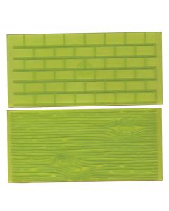FMM Tree Bark and Brick Wall Impression Pads