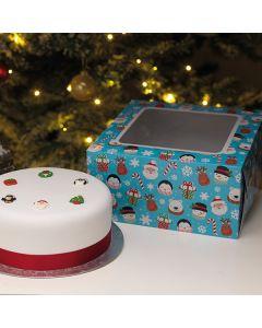 """Christmas Box and Cake Card Combo 10"""""""