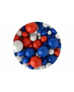 Sprinkletti Bubbles: Red, White & Blue - 100g