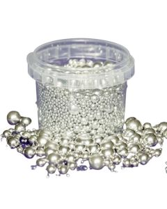 Purple Cupcakes 2-10mm Assorted Silver Chocolate Pearls (10mm Chocolate)