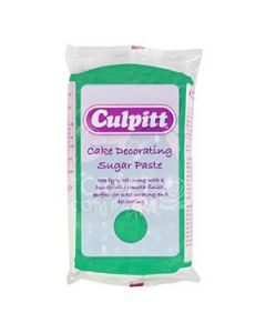 Culpitt Cake Decorating Sugar Paste Green 1 x 250g - single