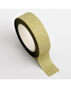 AT002 - Adhesive Washi Tape – Glitter – Gold 15mm x 10m